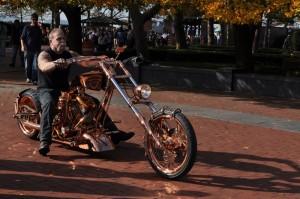 Paul Teutul on Statue of Liberty Bike