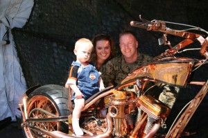 Spirit of Liberty bike with family